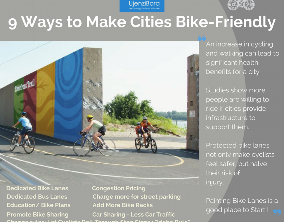9 Ways to make our communities more Bike Friendly